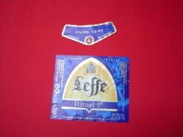 ETIQUETTE BIERE / ABBAYE DE LEFFE / RITUEL 9° / BELGIQUE - Beer