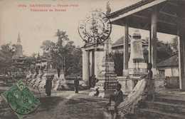 ASIE  INDOCHINE CAMBODGE COLONIES FRANCAISES PHNOM PENH  PNOM PENH TOMBEAUX DE BONZES CACHET NACHAM  LANG SON VIETIAM - Cambodia