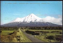 New Zealand / Mt. Egmont And Fantham's Peak From Stratford, Taranaki - New Zealand