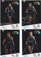 SERIE COMPLETE  TEAM KLEUR OP MAAT   FEMININES ANNEE  ???  9  PHOTOS - Ciclismo