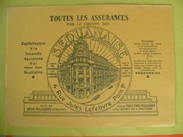 Buvard  Toutes Les Assurances SEQUANAISE A Paris - Buvards, Protège-cahiers Illustrés