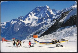New Zealand 1992 / Mt. Cook / Mount Cook Lines Planes / Airplane, Skiing - New Zealand