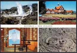 New Zealand 1990 / Rotorua / Geysers Whaka, Tudor Towers, Christ On Water, Boiling Mud - New Zealand