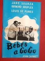 AFF CINE ORIG (jamais Affichée) BEBES A GOGO (Louis De Funès/1956) 40X60 Jean Carmet - Posters