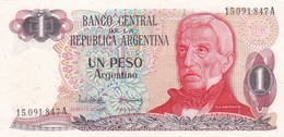 UN PESO SAN MARTIN ARGENTINA CIRCA 1983s-BILLETE BANKNOTE BILLET NOTA-BLEUP - Argentina