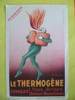 Buvard  Le THERMOGENE Combat, Toux,grippe,douleurs - Buvards, Protège-cahiers Illustrés