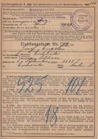 Quittungskarte Versicherungsanstalt Rheinprovinz Eschweiler-Aue 1929 (37673) - Historische Dokumente