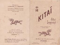 Thé Impérial KITAÏ Paris 1905 Publicité Prix Des Thés De Chine Et De Ceylan Sri Lanka China Pub - Publicités