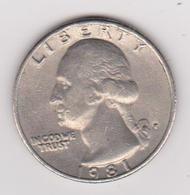 1981 Stati Uniti - 25c Circolata (fronte E Retro) - Emissioni Federali