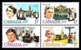 Canada (Scott No. 882a - Féministes Canadiennes / Canadian Feminists)+ [**] - 1952-.... Règne D'Elizabeth II