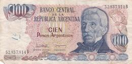 CIEN PESOS SAN MARTIN ARGENTINA CIRCA 1983s-BILLETE BANKNOTE BILLET NOTA-BLEUP - Argentinië