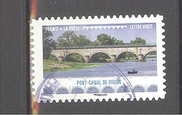 France Autoadhésif Oblitéré N°1469 (Pont Canal De Digoin) (cachet Rond) - France