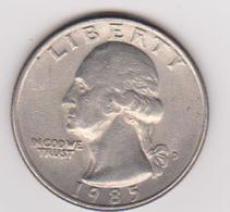 1985 Stati Uniti - 25c Circolata (fronte E Retro) - Emissioni Federali