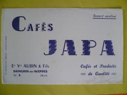 Buvard  CAFE JAPA Ets: Aubin A Sainghin En Weppes - Buvards, Protège-cahiers Illustrés