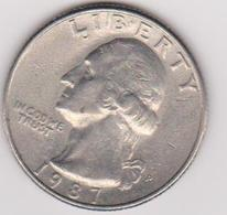 1987 Stati Uniti - 25c Circolata (fronte E Retro) - Emissioni Federali