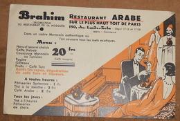 Brahim Restaurant Arabe Sur Le Plus Haut Toit De Paris - Publicités