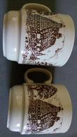 KILNKRAFT ENGLAND - 2 COFFEE MUGS  - 2 Tasses Mug à Café  - Cottage - Campagne Anglaise - Céramiques