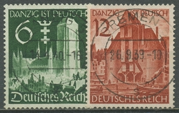 Deutsches Reich 1939 Wiedereingliederung Von Danzig 714/15 TOP-Stempel - Gebraucht