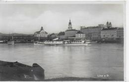 """AK 0079  Linz An Der Donau Mit Dampfer """" Wien """" Um 1930-40 - Linz"""