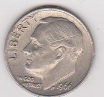 1966 Stati Uniti - 10c  Circolata (fronte E Retro) - Emissioni Federali