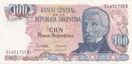 CIEN PESOS GRAL SAN MARTIN ARGENTINA CIRCA 1977s-BILLETE BANKNOTE BILLET NOTA-BLEUP - Argentinië