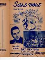 40 60 PARTITION RAY VENTURA BLACK NOIR CLAUDE ROBIN SANS VOUS FILM MADEMOISELLE S'AMUSE MISRAKI 1947 JEAN BOYER - Music & Instruments