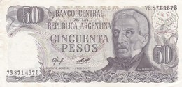 CINCUENTA PESOS GRAL SAN MARTIN ARGENTINA CIRCA 1977s-BILLETE BANKNOTE BILLET NOTA-BLEUP - Argentina