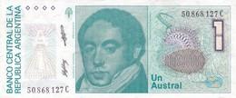 UN AUSTRAL BERNARDINO RIVADAVIA ARGENTINA CIRCA 1987s-BILLETE BANKNOTE BILLET NOTA-BLEUP - Argentinië