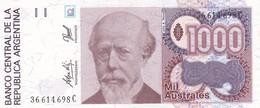 MIL AUSTRALES JULIO ROCA ARGENTINA CIRCA 1987s-BILLETE BANKNOTE BILLET NOTA-BLEUP - Argentinië