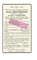 WO 73. MARIA BRUYNINCKX Echtg. G.Vanrutten - °ST-TRUIDEN 1885 / + Bij Luchtaanval Te BRUSTEM 1944 - Images Religieuses