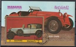 Manama 1972 Bf. D200 Auto Old Cars Sheet Perf. CTO - Manama