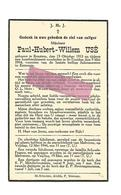 WO 74. PAUL-H. -W. USE - °BRUSTEM 1913 / +tijdens Bombardement Te ST-TRUIDEN 1944 - Andachtsbilder