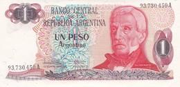 UN PESO GRAL SAN MARTIN ARGENTINA CIRCA 1970s-BILLETE BANKNOTE BILLET NOTA-BLEUP - Argentinië