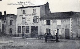 54 BLAINVILLE Sur L'EAU - Guerre 1914/15, Maisons Incendiées Et Bombardées - France