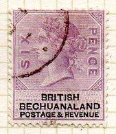 AFRIQUE - BECHUANALAND - (Colonie Britannique) - 1887 - N° 15 - 6 P. Violet Et Noir - (Effigie De Victoria) - Bechuanaland (...-1966)