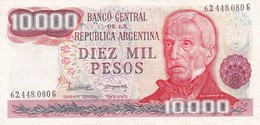 DIEZ MIL PESOS GRAL SAN MARTIN ARGENTINA CIRCA 1970s-BILLETE BANKNOTE BILLET NOTA-BLEUP - Argentina