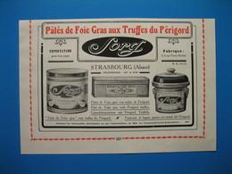 (1924) Fabriques De Pâtés De Foie Gras : SORG à Strasbourg Et DOYEN à Strasbourg - Publicités