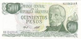 QUINIENTOS MIL PESOS GRAL SAN MARTIN ARGENTINA CIRCA 1970s-BILLETE BANKNOTE BILLET NOTA-BLEUP - Argentinië
