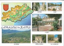 CARTES GÉOGRAPHIQUES - 34 HÉRAULT - LAMALOU LES BAINS - 6 PETITES VUES - CPM - ÉCRITE - - Maps