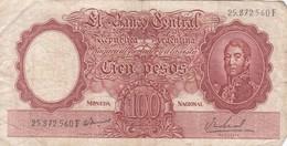 DIEZ PESOS MONEDA NACIONAL ARGENTINA CIRCA 1950s-BILLETE BANKNOTE BILLET NOTA-BLEUP - Argentinië
