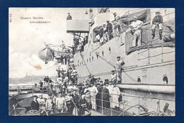 Unsere Marine. Kohlenübernahme. Marine Impériale Allemande. Chargement Du Charbon. Wilhemshaven 1908 - Regimente