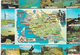 CARTES GÉOGRAPHIQUES - 85 - LA VENDÉE - 12 PETITES VUES - CPM - ÉCRITE - - Maps