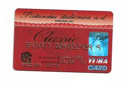 Bank Card Postanska Stedilnica Serbia Srbija - Credit Cards (Exp. Date Min. 10 Years)