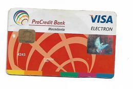 Bank Card VISA Pro Credit Germany In Macedonia - Cartes De Crédit (expiration Min. 10 Ans)