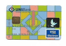Bank Card VISA UNI BANK Macedonia - Credit Cards (Exp. Date Min. 10 Years)