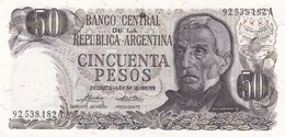 CINCUENTA PESOS GRAL SAN MARTIN ARGENTINA CIRCA 1970s-BILLETE BANKNOTE BILLET NOTA-BLEUP - Argentina