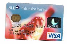 Bank NLB Tutunska Slovenia Macedonia VISA - Cartes De Crédit (expiration Min. 10 Ans)