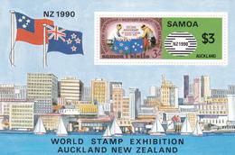 Samoa SG 851 1990 New Zealand 90 Stamp Exhibition , Souvenir Sheet Mint Never Hinged - Samoa