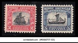 USA UNITED STATES - 1925 NORSE-AMERICAN ISSUE SCOTT#620-621 - 2V MINT NH - United States