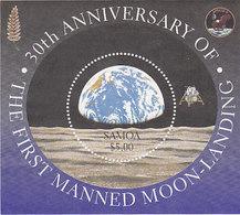 Samoa SG 1048 1999 Moonlanding MS - Samoa
